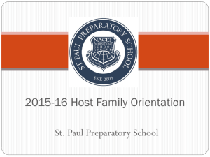 Host Family Orientation PowerPoint - Part 1