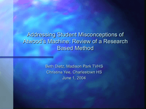 Addressing Student Misconceptions of Atwood's Machine