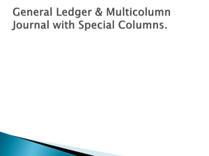 General ledger & multicolumn journal