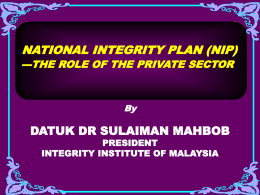 General Objective - Malaysian Institute of Accountants