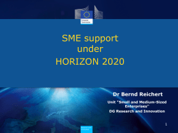 SME support: integrated approach