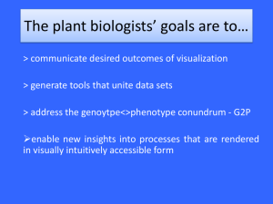 Plant Biologists' Problems