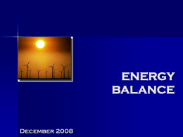 energy balance - United Nations Statistics Division