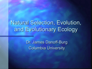 Natural Selection, Evolution, and Ecology
