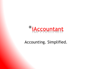 iAccountant - Edwards School of Business