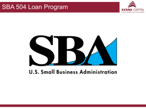 SBA 504 Debenture Amount