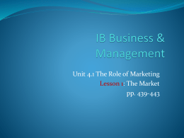 4.1 role of marketing
