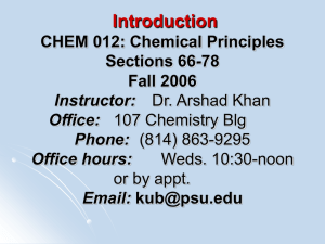 Chapter 1 - Chemistry Courses