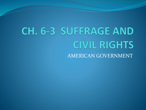 Ch 6-3 Suffrage and Civil Rights