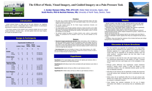 The effect of music, visual imagery, and guided Imagery on a pain