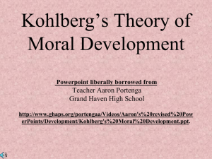 Kohlberg*s Theory of Moral Development