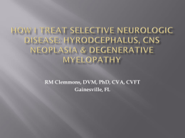 how i treat selective neurologic disease