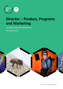 Director – Product, Programs and Marketing