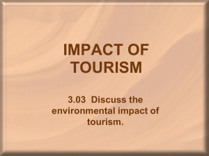 impact of tourism - Mrs.Weddington