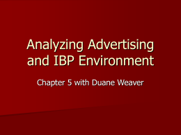 Analyzing Advertising and IBP Environment