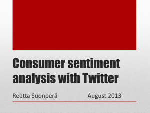 Using Social Media Data to Construct a Consumer