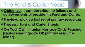 The Ford & Carter Years