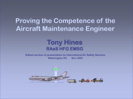 Enabling the Licensed Aircraft Maintenance Engineer