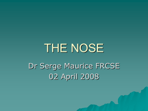 """The Nose"" by Dr Serge Maurice, FRCS"