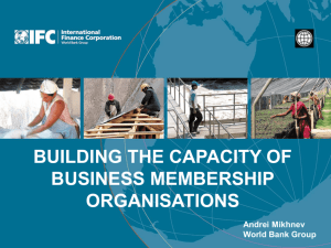Strengthening Business Membership Organisations