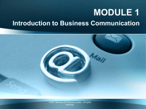 How is business communication different?