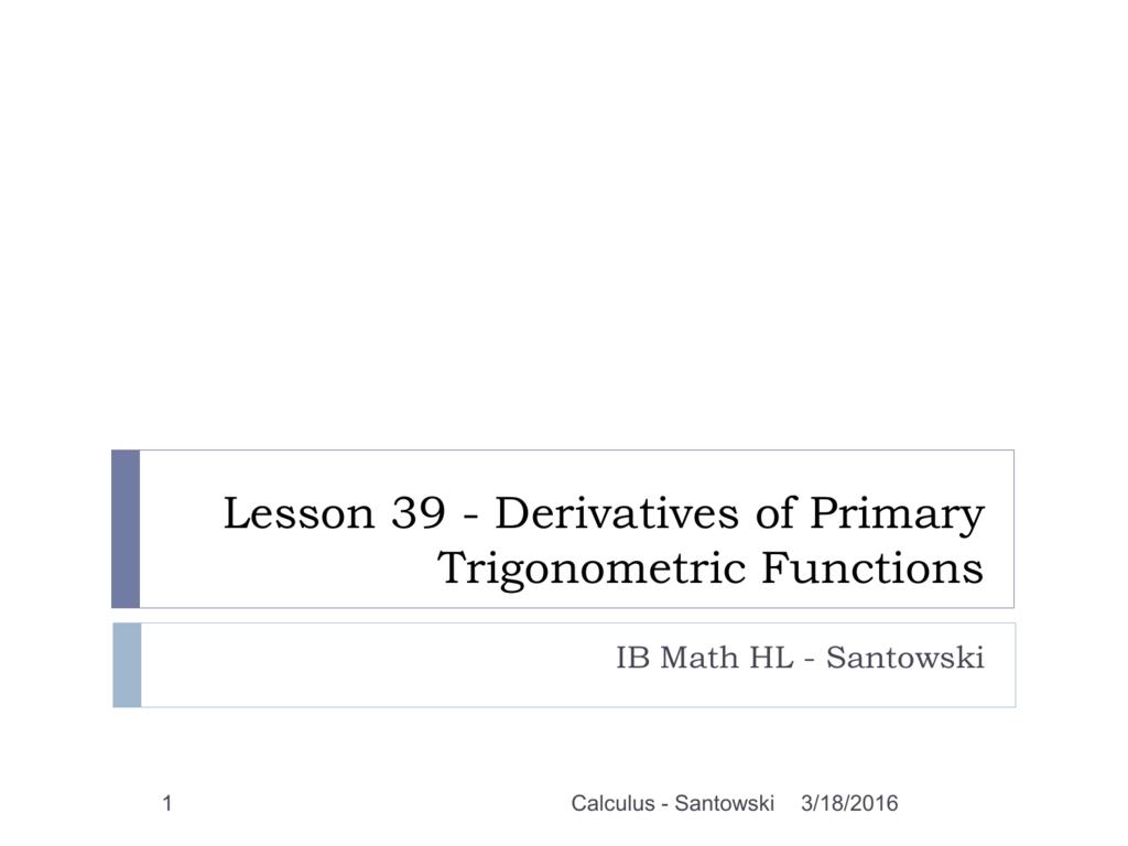 as a POWERPOINT - Mr Santowski's Math Page