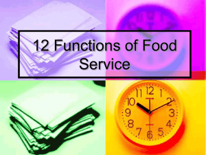 12 Functions of Food Service - MsLauriesWorldofHospitality