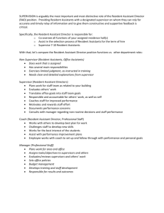 Resident assistant essay