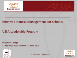 Govern with Confidence - Association of Independent Schools of SA