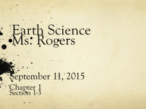 Earth Science Ms. Rogers
