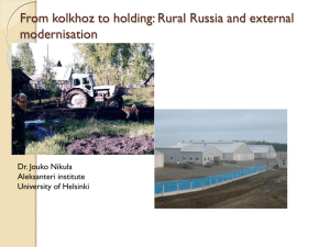 From Kolhoz to Agro-Holding Company: Rural Russia and