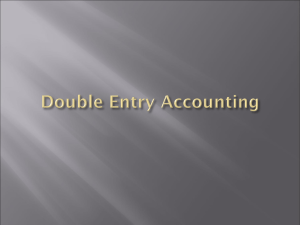 CH.3 Double Entry Accounting