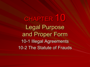 CHAPTER 10 Legal Purpose and Proper Form