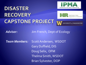 Disaster Recovery Capstone Project