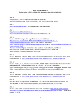 A List of Sources Cited in the November 4, 2013 ACNM/HRSA