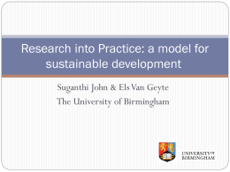 Research into practice: a model for sustainable writing development