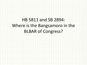 HB 5811 and SB 2894 - (ARMM) and the Regional Board of