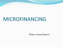 effects of agri-fishery microfinance program of the agricultural credit