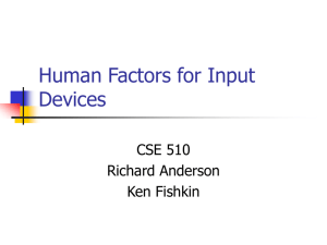 Human Factors for Input Devices