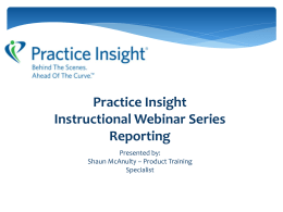 Claim Reports - Practice Insight