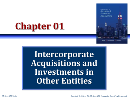 Intercorporate Acquisitions and Investments in Other Entities