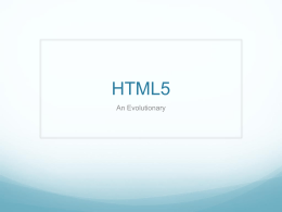 HTML5 - Trade Press Media Group