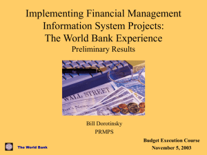 Implementing Financial Management Information