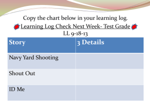 Learning log 8-30-10