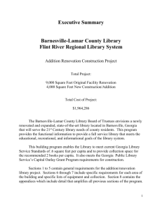 Section 2 and Executive Summary - Flint River Regional Library