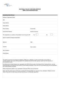 Company Registration Form - Catholic Commission For Employment