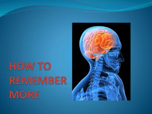 How to Remember More