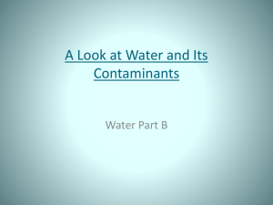 Water Unit Section B Powerpoint presentation