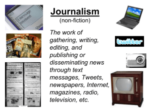 Introduction to Journalism PowerPoint