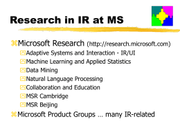 Text Categorization - Microsoft Research